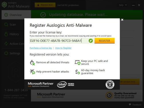 Auslogics Anti-Malware License Key