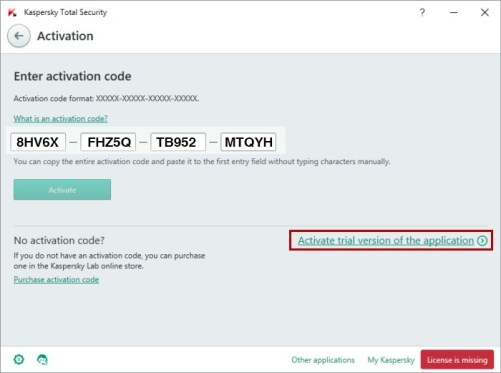Kaspersky Total Security 2018 Activation Code