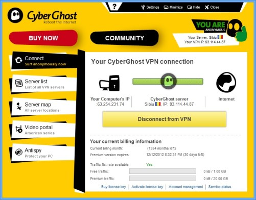 CyberGhost VPN 5.5 Activation Key