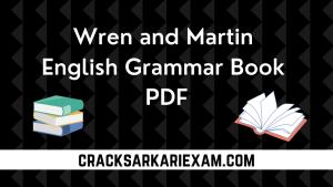 Wren and Martin English Grammar Book PDF