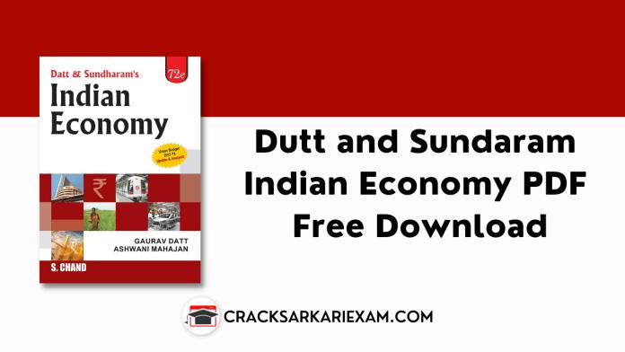 Dutt and Sundaram Indian Economy PDF Free Download