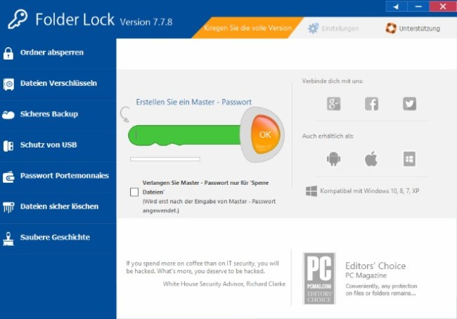 Folder Lock 7.8.1 Crack + Serial Key {Windows 7, 8, 8.1 & PC}