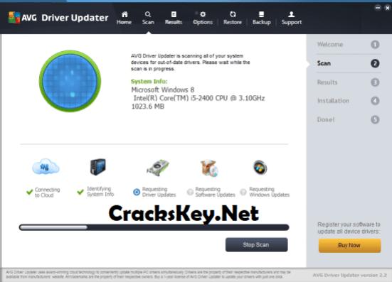 AVG Driver Updater Crack + Registration Key List 2018