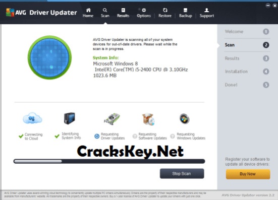 AVG Driver Updater Crack + Registration Key List 2018