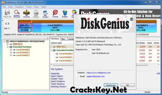 DiskGenius Professional Serial Key