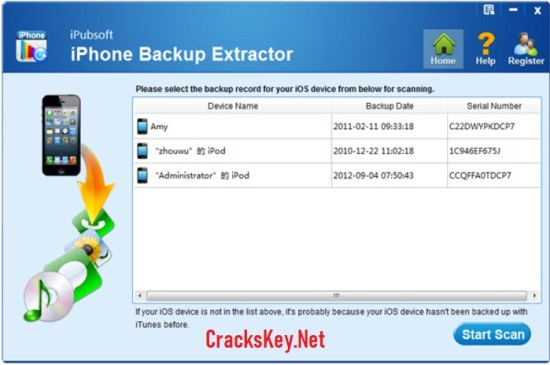 iPhone Backup Extractor 7 Activation Key