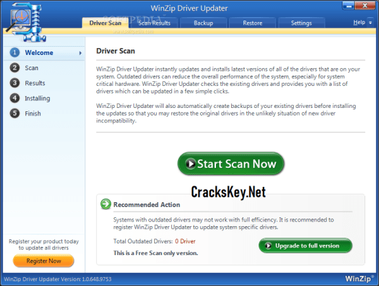 winzip driver updater license code 2018