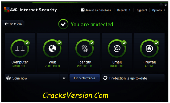 AVG Internet Security 2018 Serial Key with Crack Download