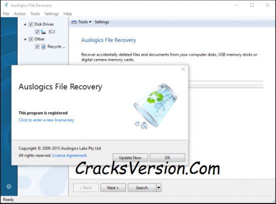 Auslogics File Recovery Crack & Serial Key Free Download