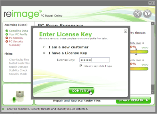 Reimage PC Repair License Key & Crack Full Version