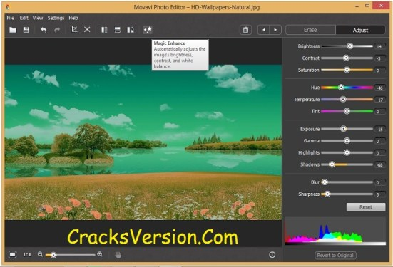 Movavi Photo Editor License Key with Crack Free Download