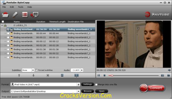 Pavtube ByteCopy for Mac Crack Full Version Free Download