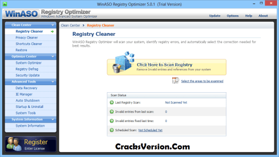 WinASO Registry Optimizer 5.4 Key