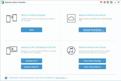 synciOS Data Transfer 2.0.6 Crack Activate Version 2019 Free Download