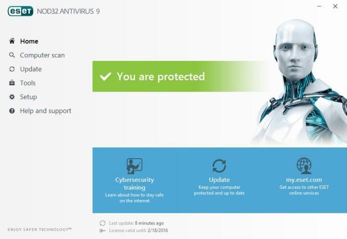 ESET NOD32 Antivirus 9 License Key Till 2020