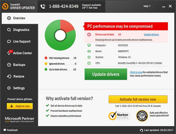 TweakBit Driver Updater 2.0.0.14 Crack & License Key Full