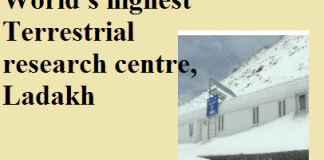 World's Highest Terrestrial Research Centre