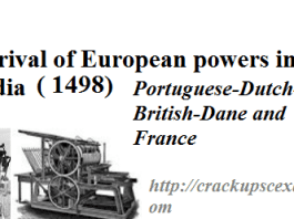 Arrival of European Powers in India: Portuguese-Dutch-British-Dane and France