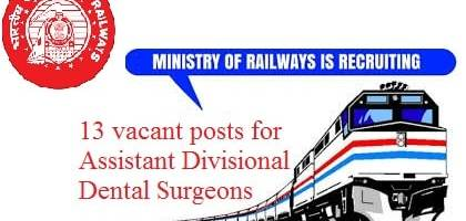 assistant-divisional-dental-surgeons-in-ministry-of-railways