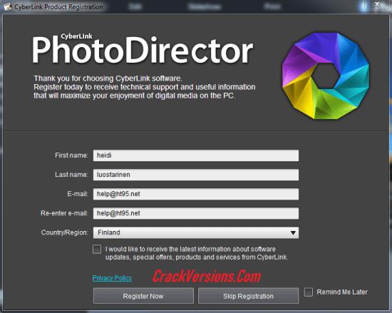 CyberLink PhotoDirector 10 Keygen