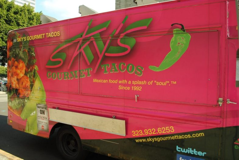 Image of wrapped food truck illustrates blog: The Value of Fleet Wraps