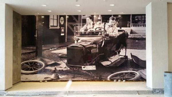 Wall graphics with original photos are an instant hit.