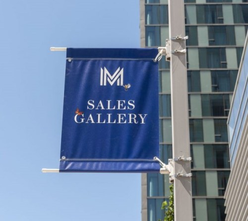Banners make for great wayfinding signage.