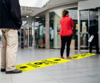 Ensure proper social distancing at all times using signage.