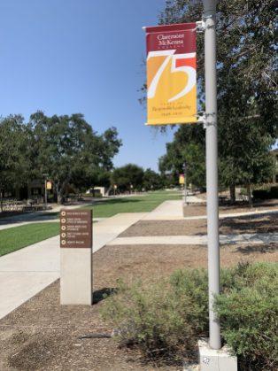 Street pole banner on campus college.