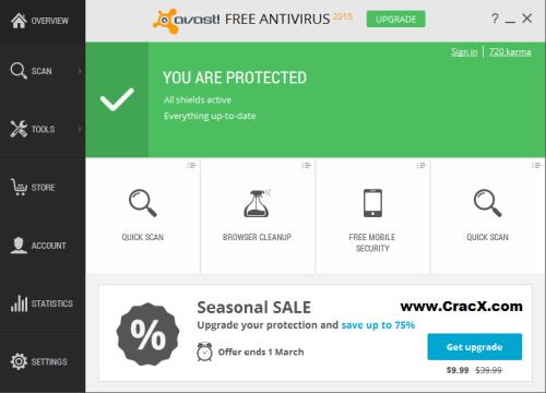 Avast Antivirus 2015 License Key + Crack Keygen Full Free