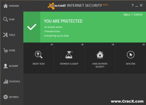 Avast Internet Security 2015 Crack + Registration Key Full Free