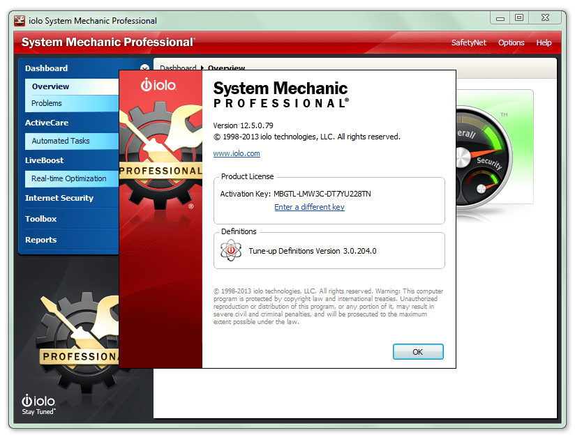 System Mechanic Professional 14 Keygen Crack + Activation