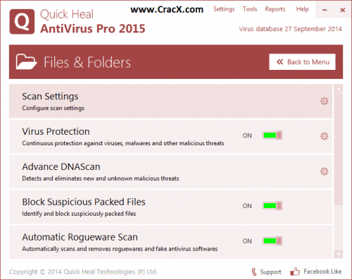 Quick Heal Antivirus 2015 Serial Keygen Full Free Download