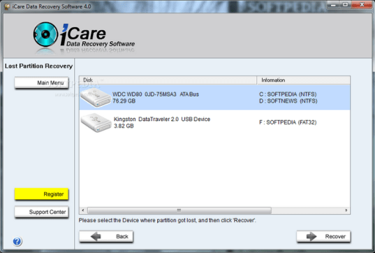 icare data recovery tutorial