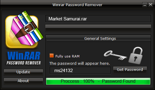 winrar password key