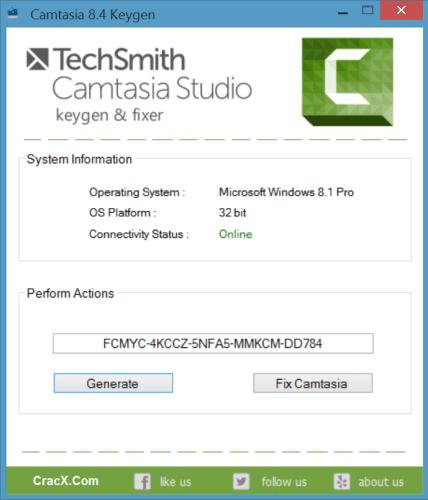 Camtasia Studio 8 Key + Universal Keygen [100% Working]