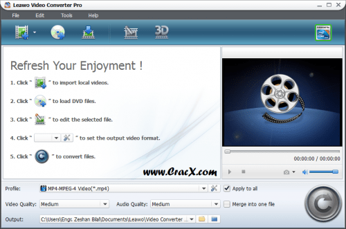 Leawo Video Converter Pro 6.2 Crack, Keygen Free Download