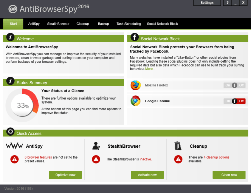 Abelssoft AntiBrowserSpy Pro v2016 Build 168 Cracked Download