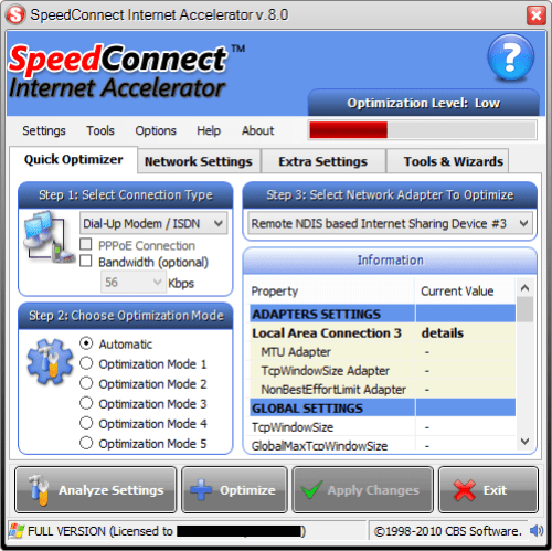 Speedconnect Internet Accelerator 8.0 кряк