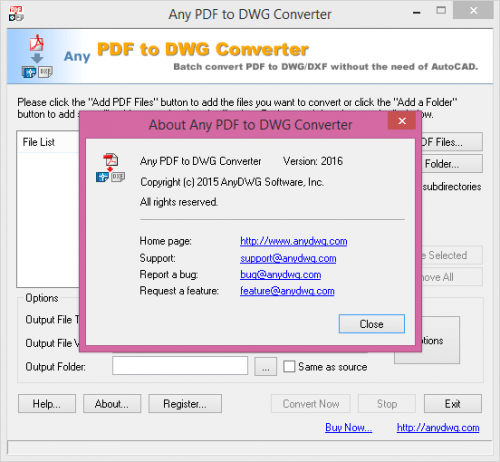 Any PDF to DWG Converter 2016 Keygen + Crack Free  Download