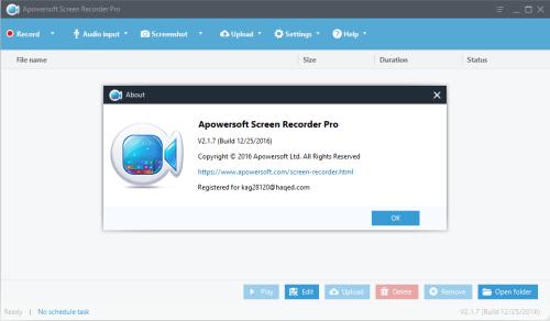 Apowersoft Screen Recorder Pro 2.1.7 Patch & Keygen Download