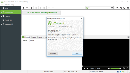 uTorrent Pro 3.4.9 Build 43085 License Crack Download