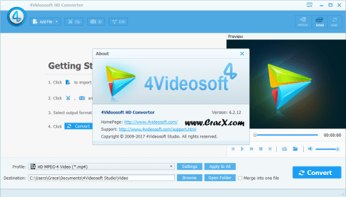 4Videosoft HD Converter 6.2.12 License Key Full Download