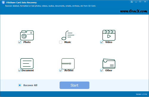 7thShare Card Data Recovery 1.3.9.6 Serial Key Download