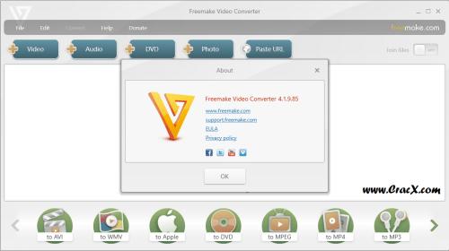 Freemake Video Converter 4.1.9.85 Crack & Keygen Download