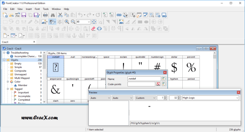 FontCreator Professional Edition 11.0.0.2365 Patch Download