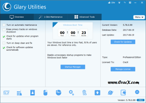 Glary Utilities Pro 5.78 License key & Crack Download