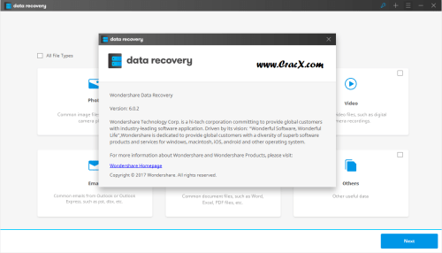 Wondershare Data Recovery 6.0.2.16 + License Key Download