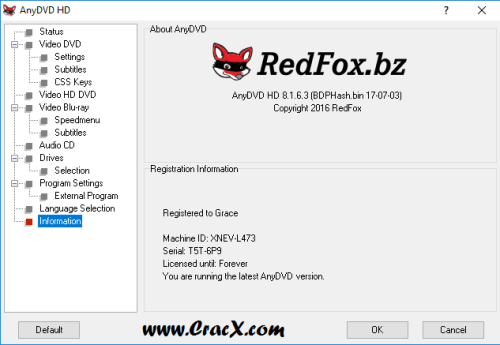 RedFox AnyDVD HD 8.1.6.5 Keygen & Activator Download