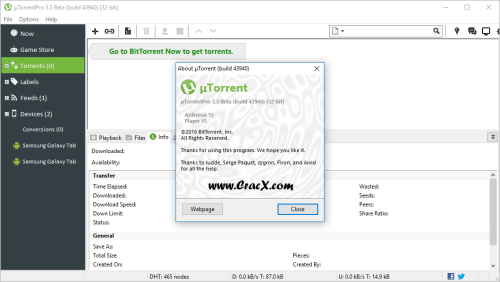 uTorrent PRO 3.5.0 build 43940 Beta Full Crack Final Download